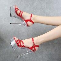 Sandals Shoes Woman Summer Ladies Sandals Heels Platform Transparent Shoes White sandals Women Shoes 2019 Female Open Toe Heels