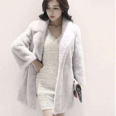 Veste rose Nouveau Fausse Chaud Argent Long Hiver Lapin Manteaux Outwear M512 Fourrure Épais Manteau Pour 2018 Faux blanc En Femmes De xeoCrBWQd