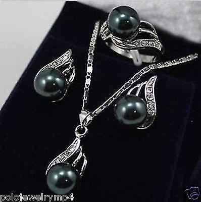 Jewelry Black Pearl Bow...