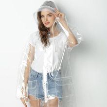 Transparent Raincoat Women Poncho Motorcycle Windbreaker Suit Rain Cover Clear Regenjas Dames Feminino 50KO172