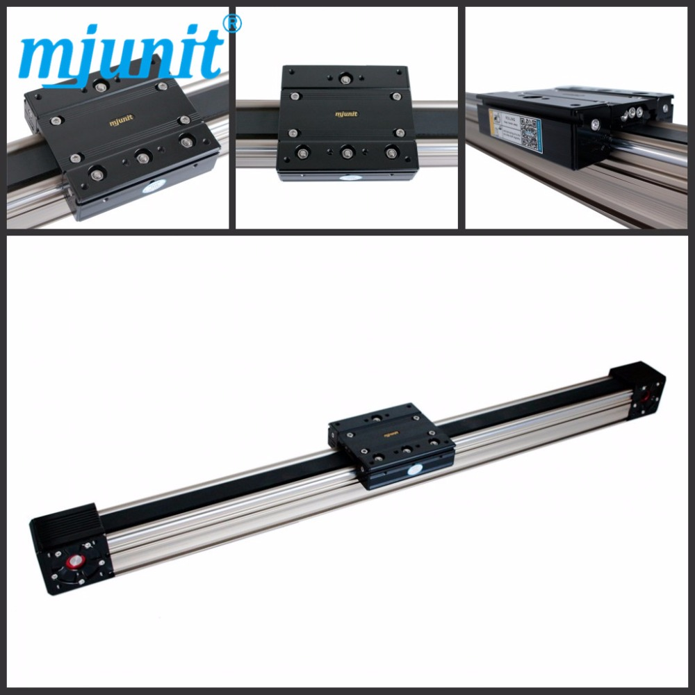 Mjunit MJ60 Carriage Belt Driven Actuator Linear Rails Customized Length Belt Drive Linear Guide Rail belt driven linear slide rail belt drive guideway professional manufacturer of actuator system axis positioning