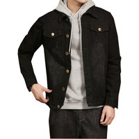 Men Jacket 2018 New Mens Denim Jacket Coat Single Breasted Black Big Men Plus Size 5XL