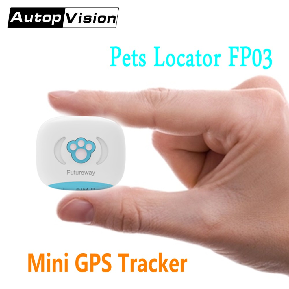 Wholesale FP03 Mini Pet GPS Tracker Real Time Global Locator For Kids Elders Pets Vehicle With Collar/Luminous Case Free App