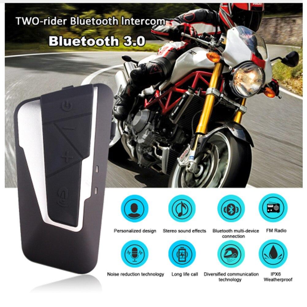 T9S Moto Casque Intercom Moto Étanche Sans Fil Casque 1000 m BT Interphone Bluetooth 3.0 FM Radio 800 mah