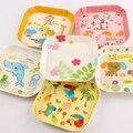 Venda quente Encantador Dos Desenhos Animados Crianças Placa Pequena Casa Compota Bandeja De Plástico Placa de Melamina Pratos de Sobremesa Placa Bebê C01