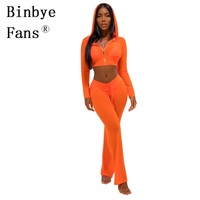 Binbye Fans Club Outfits Tracksuit Sexy See Through Mesh Womens Two Piece Sets Fall Long Sleeve