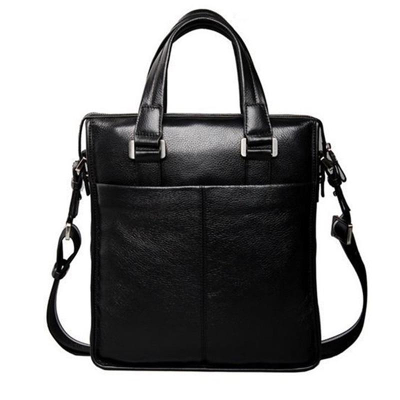 Ny P.kuone mærke mænd taske håndtaske ægte læder taske cowhide - Håndtasker - Foto 3