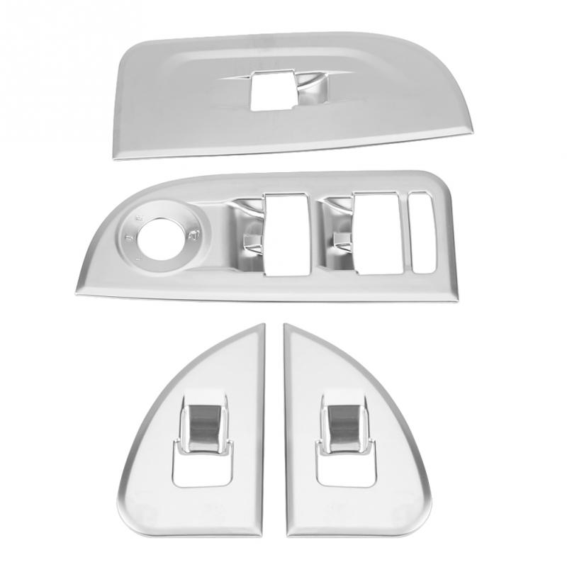 4Pcs Window Lift Switch Button Frame Trim Cover Stickers
