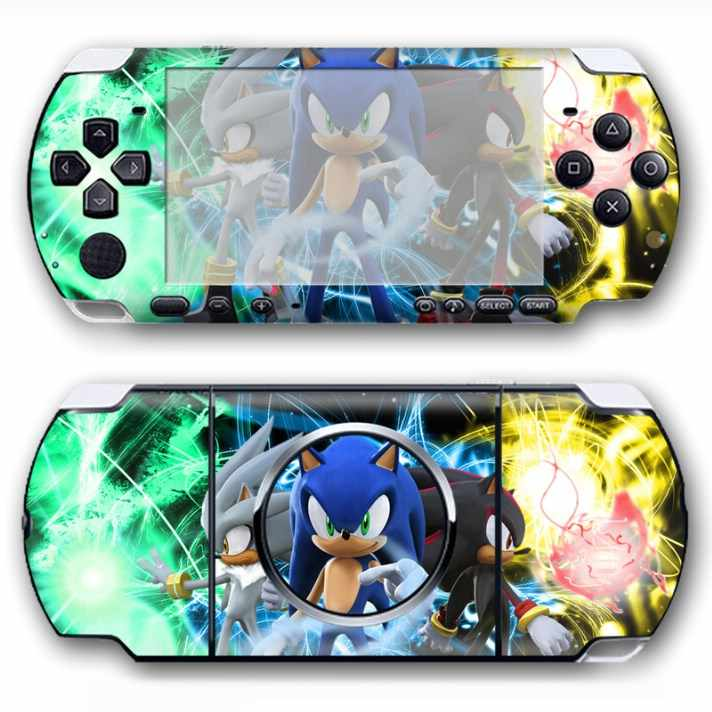 Famous cartoon adhesive waterproof Pvc material Protective skin sticker for Sony PSP 3000