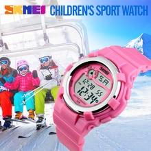 2017 nuevos niños del reloj led digital relojes de alarma cronómetro a prueba de agua skmei reloj marca niños relojes para niños chicas reloj de pulsera