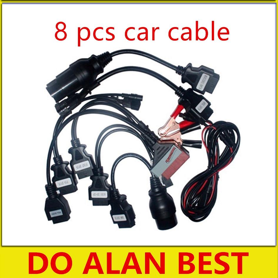 Prix pour Qualité A + cdp câbles ensemble complet 8 pcs câble pour les voitures de voiture et camion outil de diagnostic