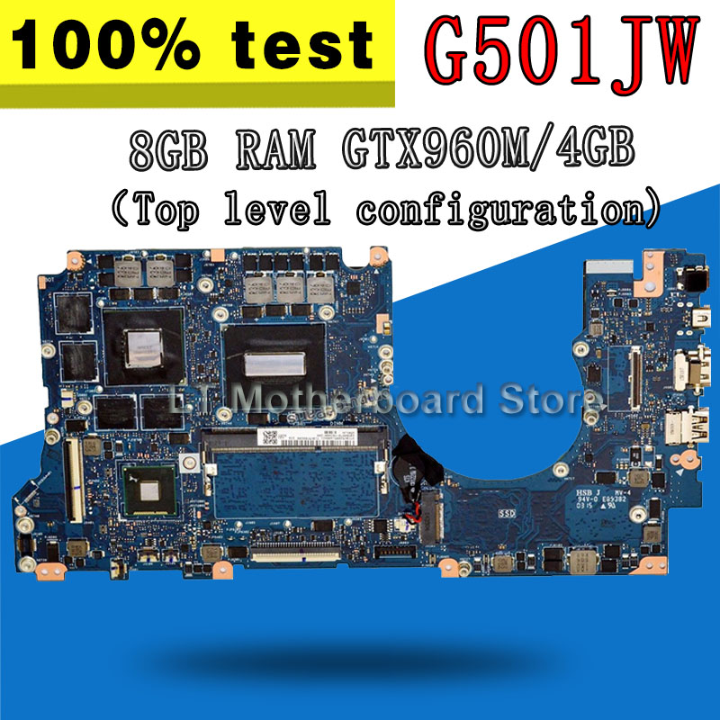 G501JW Carte Mère 8 gb i7-4720 GTX960M/4 gb Pour ASUS N501J N501JW UX501J UX501JW G501JW G501J mère D'ordinateur Portable HM86