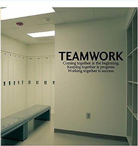 Quotes wall decal teamwork definition office wall decor for Definition for mural