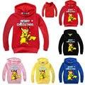 Xmas Pikachu Kids Girl Boy Sweatshirt Hoodies Jacket Coat Outerwear Tops Clothes