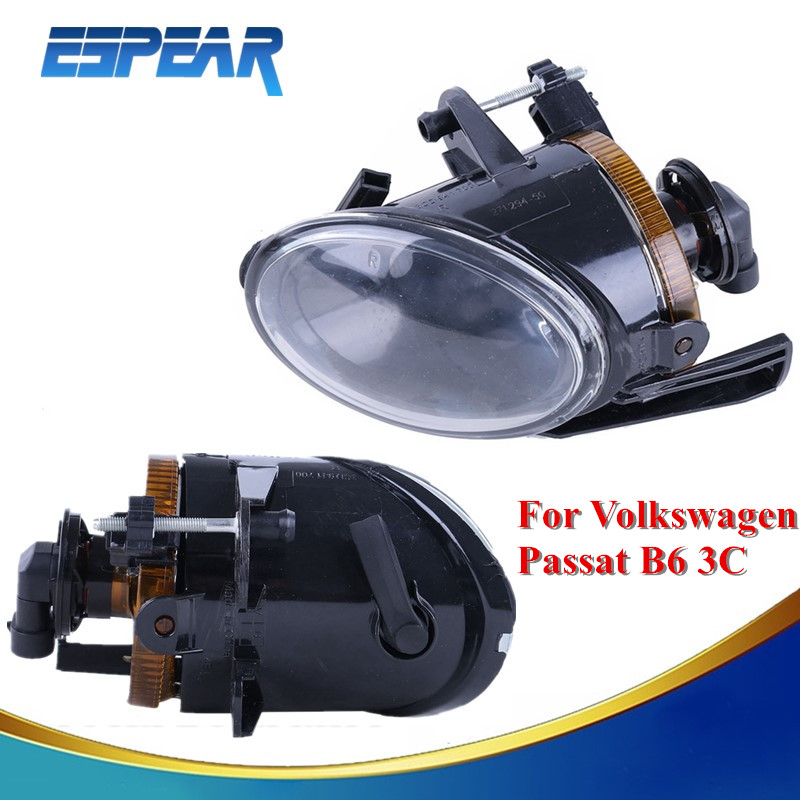 1 Pair Halogen Fog Lamps Fog Lights For VW Passat B6 3C 2006 2007 2008 2009 2010 2011 3C0941699B 3C0941700B Car Styling #992 dfla car light for vw passat b6 car styling 2006 2007 2008 2009 2010 2011 new front halogen fog light fog lamp