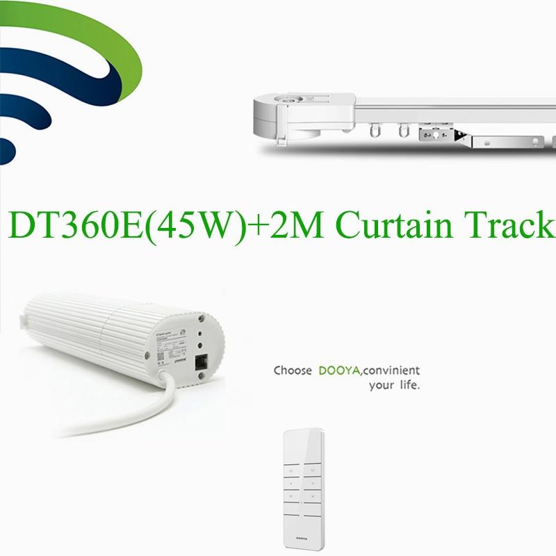 Ewelink Broadlink DNA Intelligient Dooya DT360e Wifi Motor Electric Curtain+ 2M Aluminum Curtain Rail Track Phone Remote Control