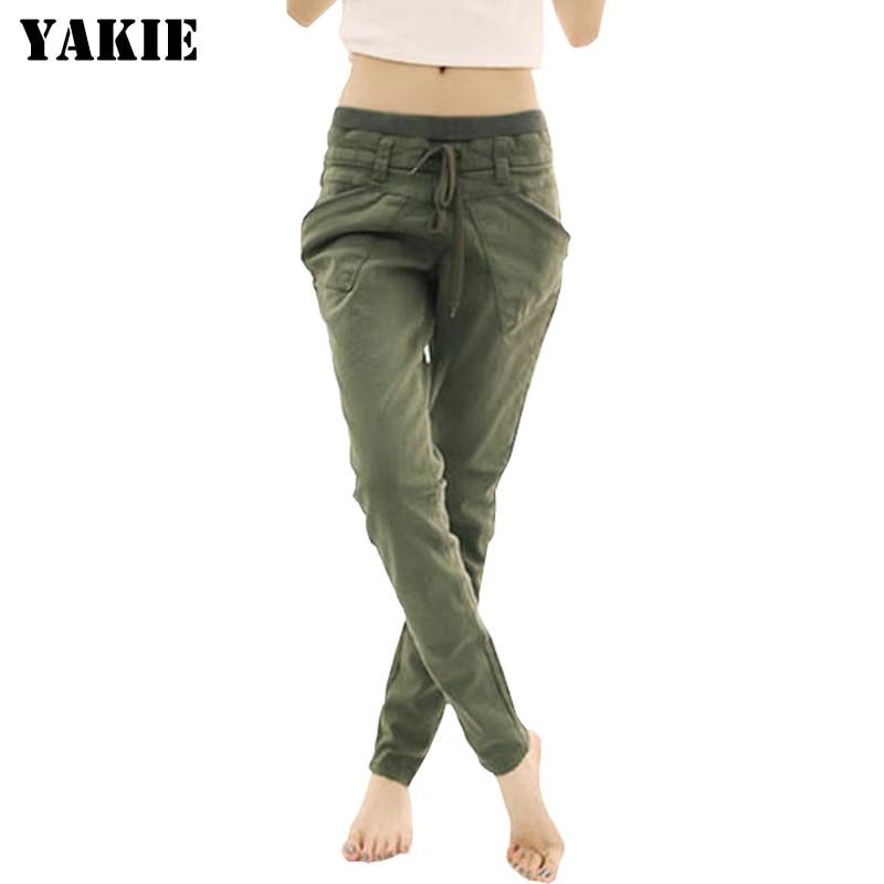 Plus Size S-XXXL 2018 Spring Summer Women's Harem Pants Loose Casual Trousers Cotton Linen Elastic High Waist Women Pants