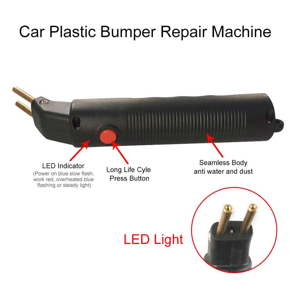 Máquina profesional de reparación de parachoques de coche, grapadora caliente, sistema de reparación de plástico, soldadura, reparación de garaje de automóvil, juego de herramientas con funda