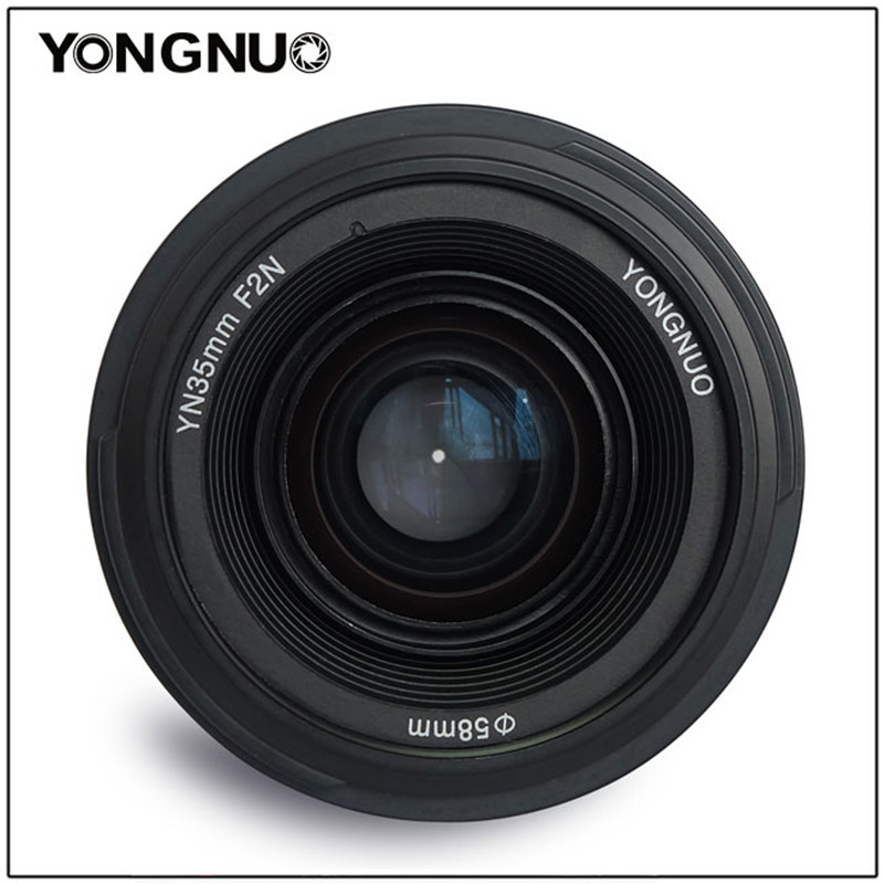 YONGNUO 35mm Lens F2 Wide-Angle AF/MF Fixed Focus Lente YN35mm F Mount for Nikon D7200 D7100 D7000 D5300 D5100 D3300 D3200 D800 original yongnuo camera lens 35mm f2 for nikon large aperture auto focus lens for nikon 7000 d5100 d5000 d3100 d3000 d60