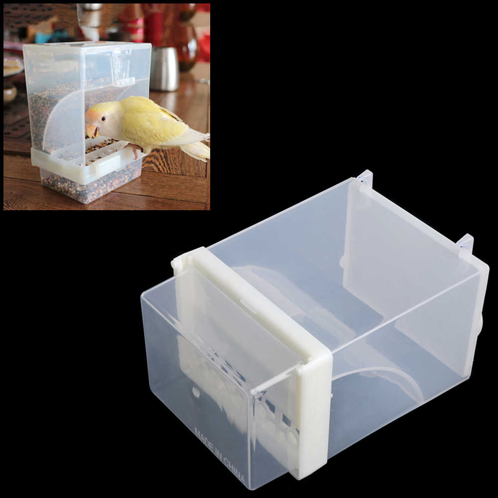 Bird Poultry Automatic Feeder Acrylic Food Container Parrot Pigeon Splash Proof Pet Bird Feeding Devices Supplies C42