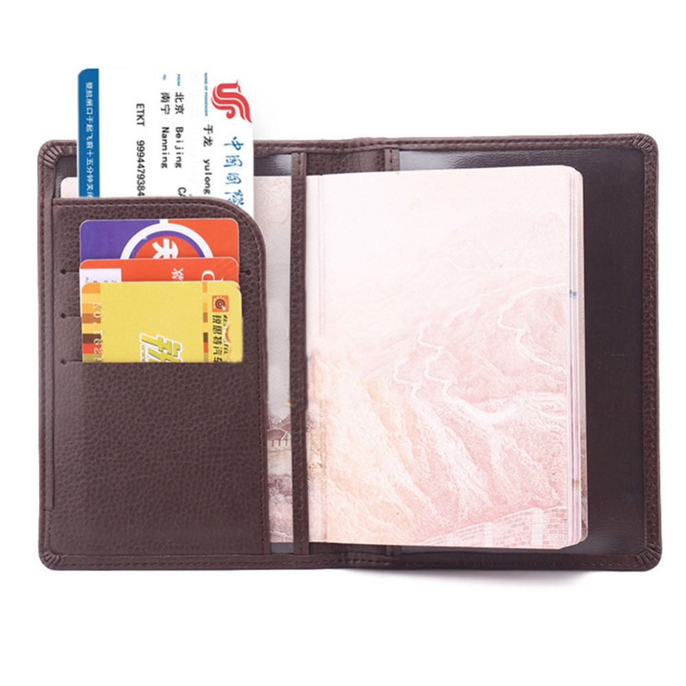 KUDIAN BEAR Minimalist Passport Cover PU Leather Passport Holder Men Travel Wallet ID Card Holder Porte Carte BIH014PM49 in Card ID Holders from Luggage Bags