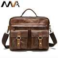 MVA Genuine Leather Men Bag Business Briefcase Handbags Men Messenger Crossbody Bags Men's Travel Leather Laptop Bag Tote Bags
