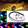 1set 60 90CM RGB LED Strip Light Car Auto Remote Control Decorative Flexible LED Atmosphere Lamp