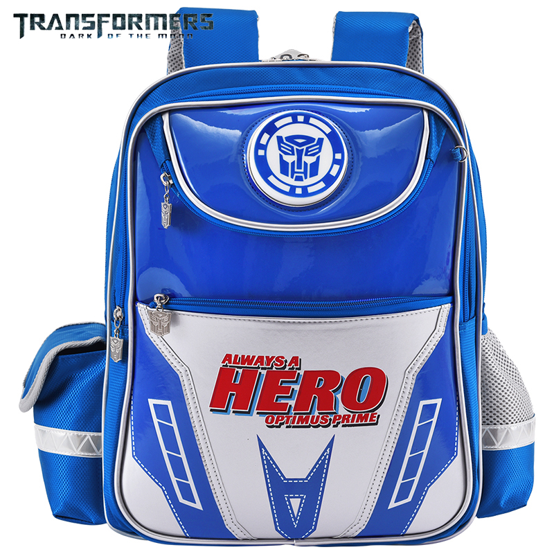 TRANSFORMERS school bags boys backpack children school backpack for Kids Cartoon style light weight LED light is safer at night in School Bags from Luggage Bags