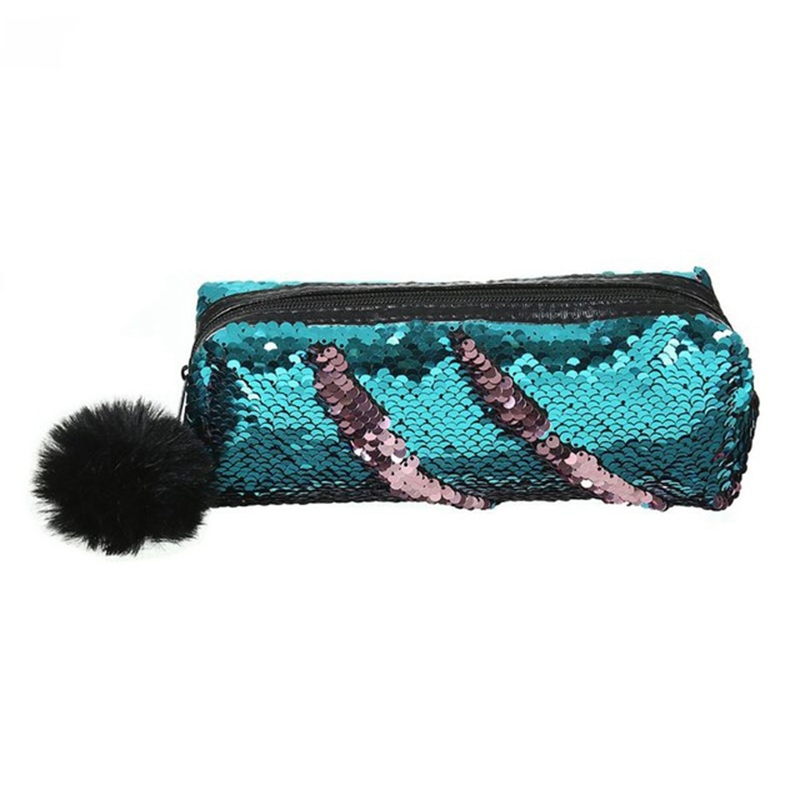 Shining Sequin Large Pencil Case Stationery Storage Pen Organizer Bag School Office Supply Cosmetic Holder For Gift