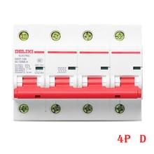 цена на Miniature Circuit breaker Air switch DZ47-125 DELIXI MCB 4Pole  D Curvers 63A-125A   63A 80A 100A 125A