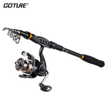 Goture Fishing Reel And Rod Combo 2.1M-3.6M Telescopic Fishing Rod and 7BB 2000-4000 Spinning Reel Fishing Coil Reel Rod Set - DISCOUNT ITEM  30% OFF Sports & Entertainment