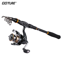 Goture Fishing Reel And Rod Combo 2.1M 3.6M Telescopic Fishing Rod and 7BB 2000 4000 Spinning Reel Fishing Coil Reel Rod Set