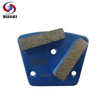 цена на RIJILEI 12PCS/lot Metal Diamond Grinding disk Plate strong magnetic Grinding grinding disc of concrete floor grinder pad A10B
