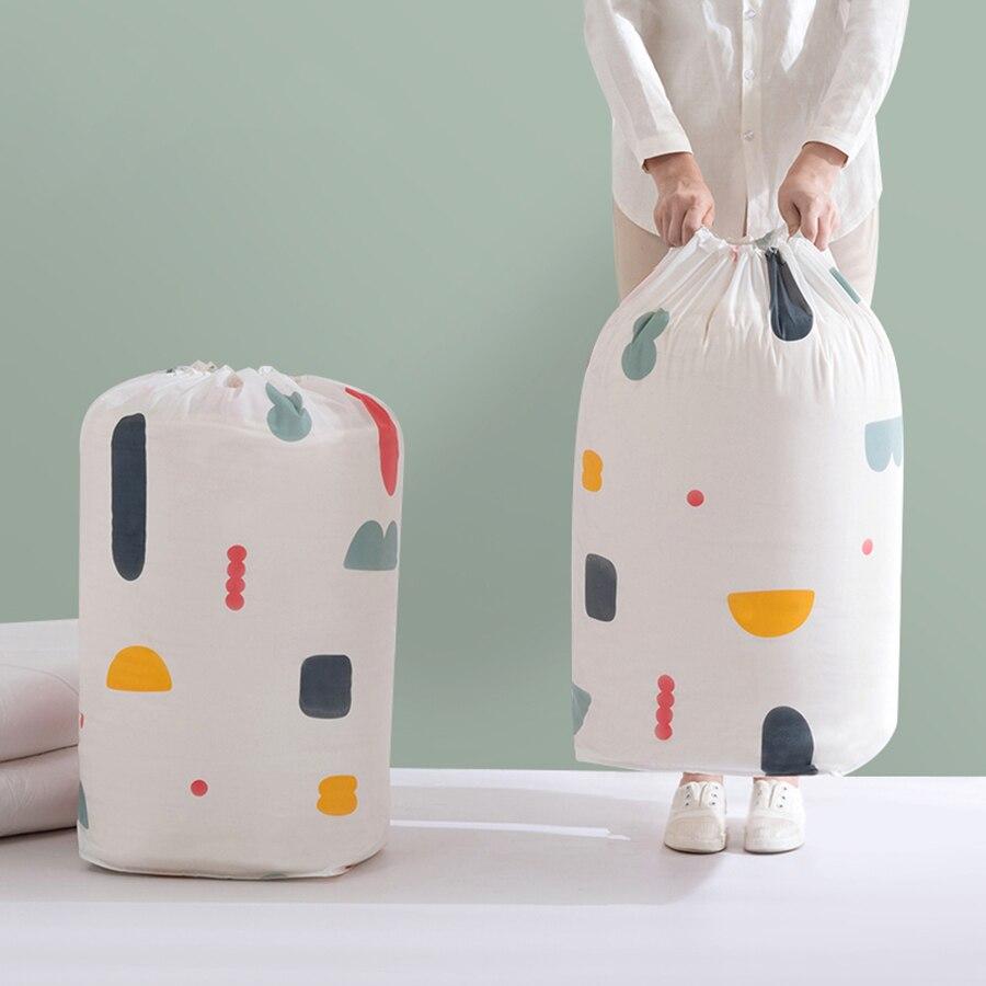 Waterproof Drawstring Storage Bag Floral Wardrobe Organizer Bolsa Almacenamiento Ropa Organizador De Mala Travel Clothing 60A011 in Storage Bags from Home Garden