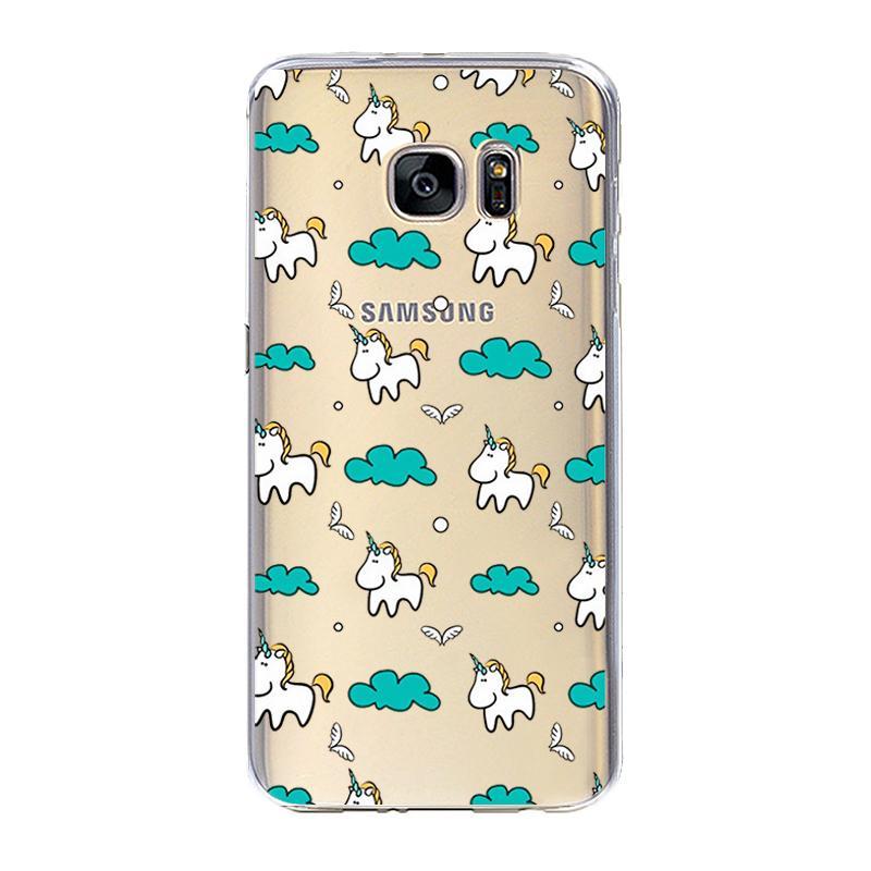 Jednorożec dla iPhone 7 7 Plus 5 5S SE 6 6 S Plus Przypadku dla Samsung Galaxy S3 S4 S5 S6 S7 S8 Krawędzi Plus J3 j5 J7 A3 A5 2016 2017 Pokrywa 3