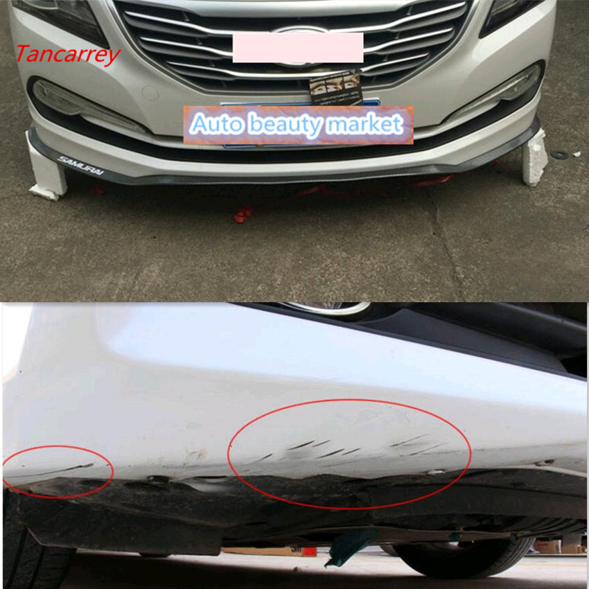 Car styling Front Bumper Protector Accessories for dodge caliber solaris 2017 suzuki grand vitara ford ranger Accessories in Car Tax Disc Holders from Automobiles Motorcycles