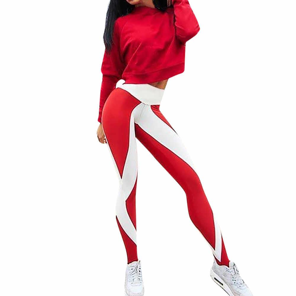 648dcb1795d82c KLV Yoga Pants Women Unique Fitness Leggings Workout Sports Running Leggings  Sexy Push Up Gym Wear