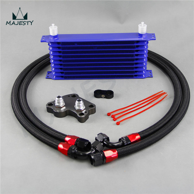 10 Row Oil Cooler Mini Cooper S Supercharger R53 Engine Oil Cooler