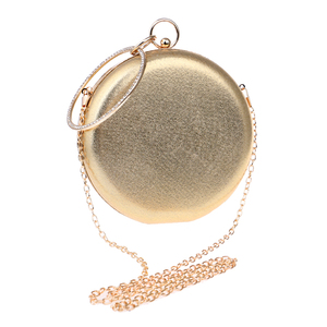 Image 3 - SEKUSA Round Shaped Women Evening Bags Diamonds Simple Red blue silver black gold Mixed Day Clutches Chain Shoulder Bags