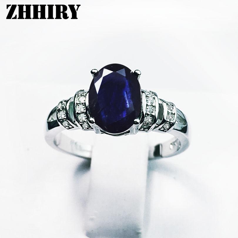 Women Genuine Sapphire Ring 925 Sterling Silver Natural Real Gemstone Fine Jewelry Wedding Engagement Birthstone цена
