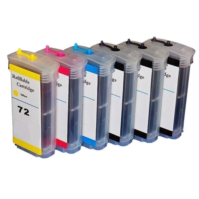 Remplacement de cartouche d'encre rechargeable pour hp72 C9403 pour Designjet T1200/T1200ps/T1100/T1100ps/T610/T610PS/T770/T770PS encre complète