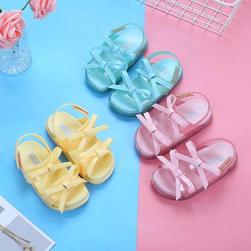 Mini Melissa Shoes 2019 Girls Sandals Summer Kids Children Jelly Sandal Shoe Girl Non-slip Beach Toddler