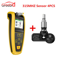 AUZONE AT60 TPMS Diagnostic Service Tool AT60 TPMS Tool With Pro Sensor 4PCS 315MHZ/433MHZ for Choose