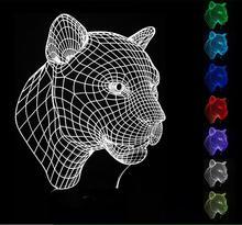 Lampa 3D Tygrys Spiderman Illusion 7-Kolorów LED USB