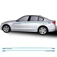 Car Styling Waist Line Side Stripe Decal Car Sticker M3 Style for BMW 3 Series F30 F31 F34 E90 E91 E92 E93 2013 2018 Accessories