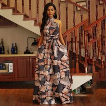 c3820fe6df947 Buy floor length color block maxi dress and get free shipping on ...