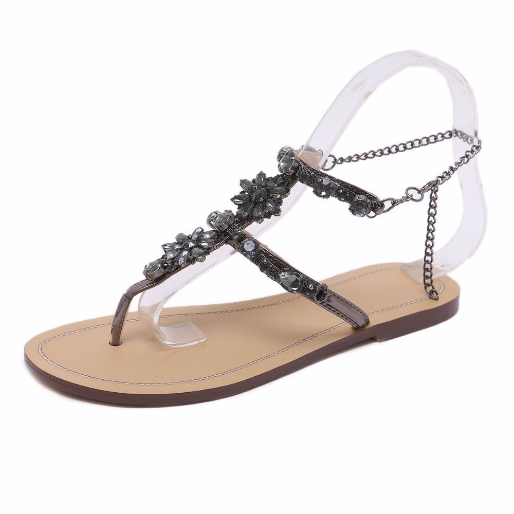 Chaussure Zat Cristal Tanga Rhinestones Gladiador Feminino Más sliver gold Zapatos Mujer Sandalias Tenis Planas 43 2018 Cadenas Black Tamaño rRzrqvw