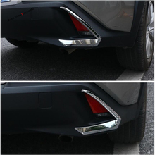 Yimaautotrims Tail Rear Fog Lights Lamp Eyelid Eyebrow Strip Cover Trim ABS Chromium Styling Fit For Lexus UX 200 250H 2019 2020
