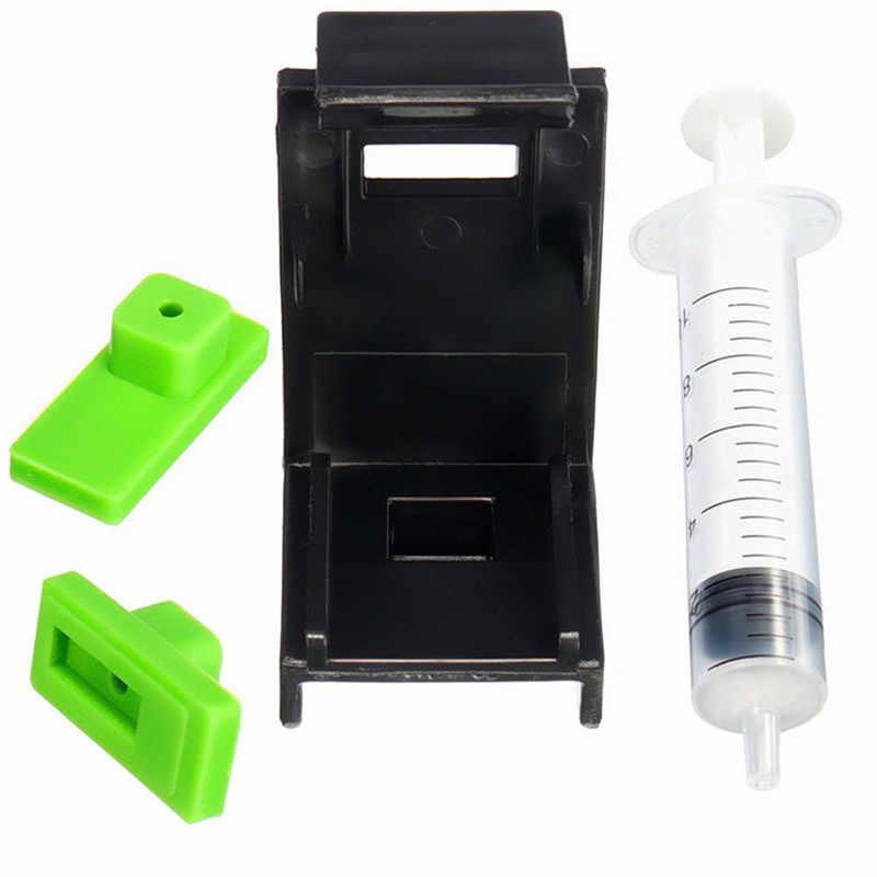 3 In 1 10 Ml Jarum Suntik Tinta Cartridge Clamp Penyerapan Klip Karet Bantalan Memompa Alat Kompatibel untuk HP 60/61 1 set