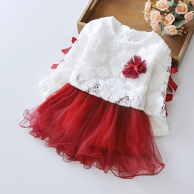 07a2fb3e9 Otoño bebé ropa de la muchacha princesa party tutu dress de manga larga  para niño recién
